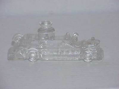 Vintage Glass Fire Truck Engine Pumper Candy Container Free Ship