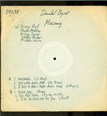 Donald Byrd Test Pressing on Blue Note BST 84238