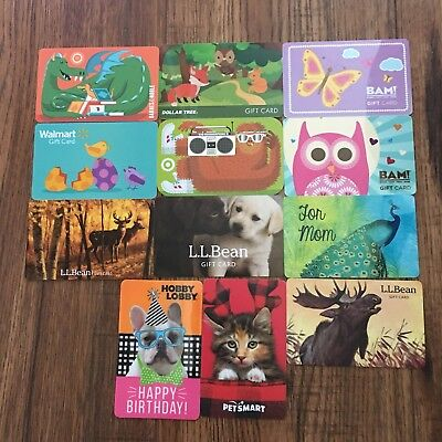 (12) Animals Gift Cards Collectible NEW No Value