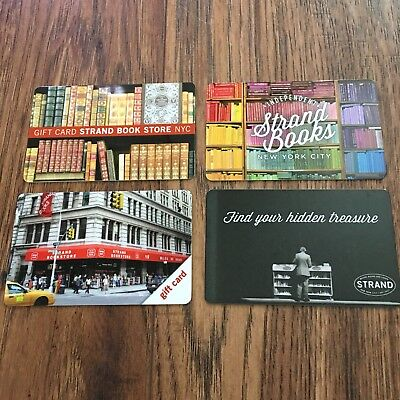 (4) Strand's NYC Bookstore Gift Cards Collectible NEW No Value