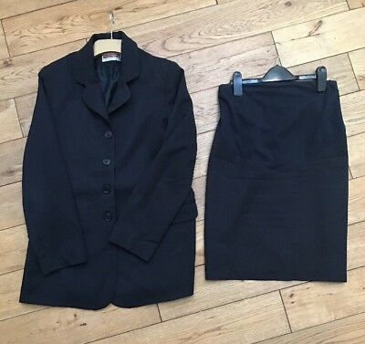 Blooming Marvellous Skirt Suit Navy - Size 8