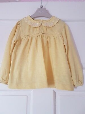 Gorgeous baby girls lemon long sleeved top by Next, age 18-24 months