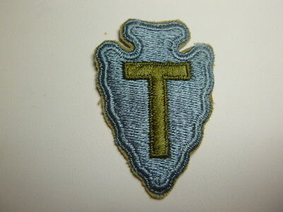 A   WW 2 U S Army 36th Division   Cut Edge Snow Back Patch