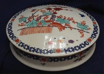 Grande bonbonnière porcelaine de Paris décor Kakiemon Chantilly déb 1900