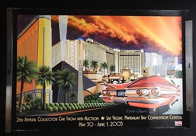 Kruse Mandalay Bay Las Vegas 2003 Collector Car Auction Poster IMPALA CHAPPLE
