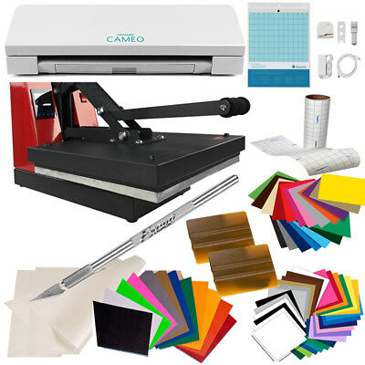 "USCutter Business Craft Bundle: Silhouette Cameo 3, 15"" x 15"" Heat Press Machine"