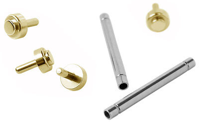 Minott Pens 2 x Clock Pins with Rivets 15mm Ø 1,5 Stainless Steel Gold Coloured