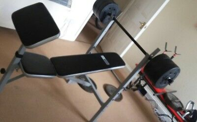 Pro Fitness Weight Bench And Weights