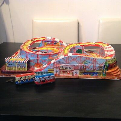 Vintage Technofix 307 Coney Island Rollercoaster With The Original Cars And Key