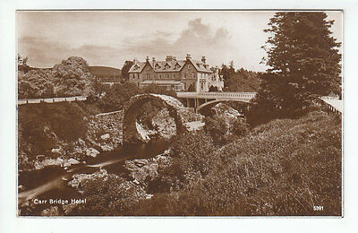 Carr Bridge Hotel And Bridges c1920's Real Photograph 5391 Old Postcard Unposted