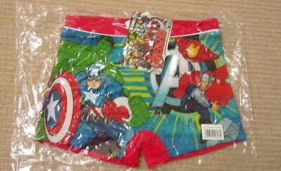 BNWT Official Boys AVENGERS TRUNKS Kids Swimming Costume swim trunks red Age 8