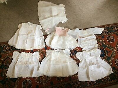Vintage Baby Clothes / Dresses - Harrods, Feltman  Bros, etc. '50s/'60s 7 items.