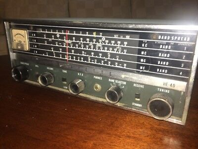 Vintage 1960's Tube Powered Lafayette Am/sw Ham Radio Model Number He-40