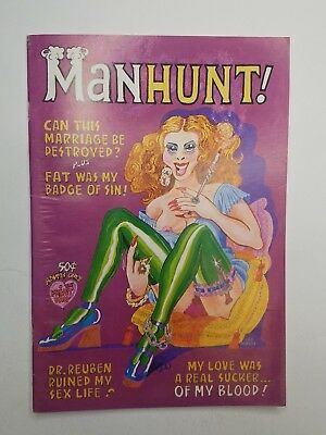MANHUNT! The Print Mint Underground Comix First Print July 1973 Terry Richards