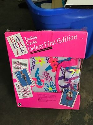 BARBIE FIRST EDITION DELUXE 1990 MATTEL FACTORY CARD SET Of 300 & 20  ALBUM Min