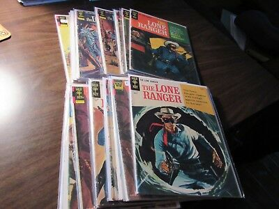 Lot of 20 Different the Long Ranger GOLD KEY Vintage Comic Book Western Tonto
