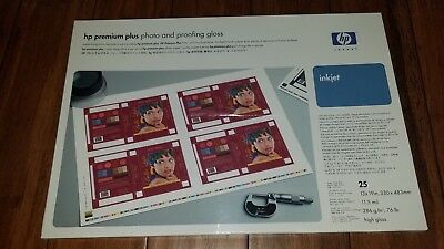 HP Premium Plus Photo and Proofing Gloss paper 13X19 76 lbs 25 Sheets inkjet
