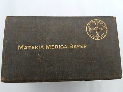 ANTIQUE MATERIA MEDICA BAYER 25 Pharmacopea Index Cards, Products admitted to US