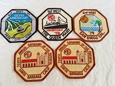 5 MG GOF WEST Patches, 1976, 79, 82, 97