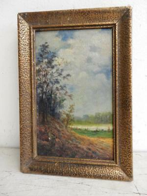 REALLY old PAINTING oil LANDSCAPE signed