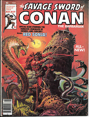 Savage Sword of Conan #29 May 1978 FINE VINTAGE Red Sonja