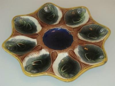 Stunning Antique Majolica Oyster Serving Plate