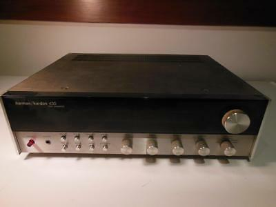 HARMON KARDON 430 TWIN POWERED RECEIVER- Powers On PARTS ONLY