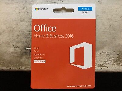 Microsoft Office 2016 Home And Business Pkc New 32/64Bit T5D-02780!!!