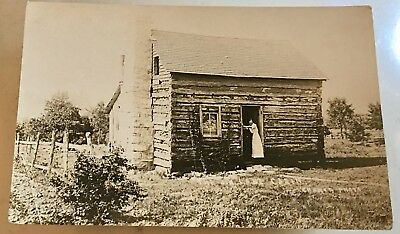 Branson, Missouri The Jim Lane Cabin Real Photo 1926 Vintage Postcard