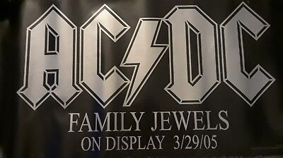AC/DC 2005 Family Jewels On Display promotional poster (Good Condition)