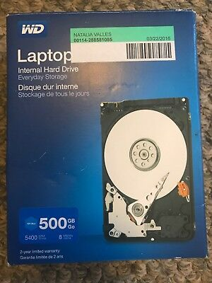 WD - Mainstream 500GB Internal Serial ATA Hard Drive for Laptops