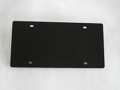 "Black Red or White License Plate Blank Laser Cut from Durable 1/8"" Acrylic"