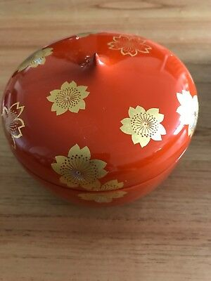 Lacquer Ware Covered Bowl still in box, purchased from Takashimaya in Japan