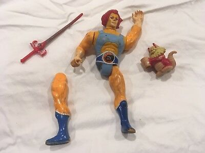 Thundercats Battle-Matic Lion-O orange version vintage figure LJN 1985 Damaged