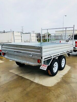 10x7 FLAT TOP TRAILERS OFF-ROAD ALL - TERRAIN TYRES 3x2.2m deck  OFFROAD