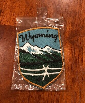 Vintage Wyoming Mountains ⛰ Travel Patch