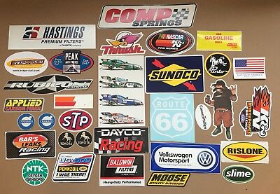 LOT 30+ Mixed Racing Performance Auto Contingency GLOSSY STICKER DECAL NOS