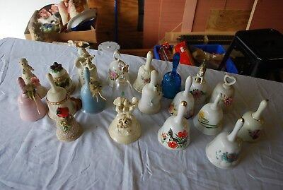 Wow Lot Of 20 Ceramic Bell Collection