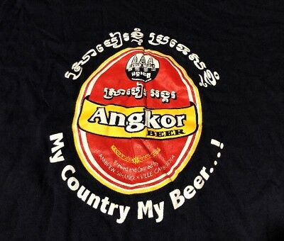 Angkor Beer Made In Cambodia My Country Brewed Alcohol Small Slim Medium Beer