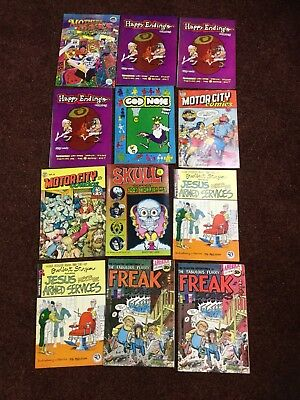 Rip Off Express Lot of 12 Vintage Underground Comics 1969 To 1971