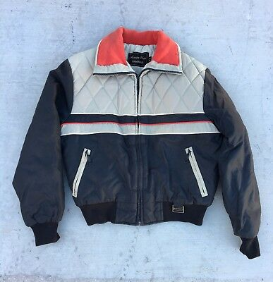 Vintage 80s YAMAHA Maxim Wear Motorcycle Snowmobile PUFFER Coat Jacket Womens L
