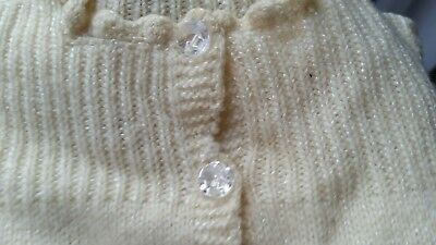 Vintage Baby Children Sweater has crystal glass buttons