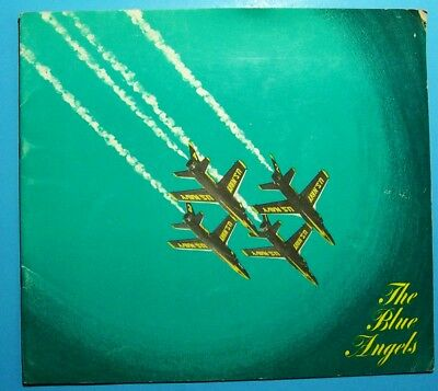 Vintage 1960's Blue Angels Navy Aircraft Airshow Demonstration Souvenir Booklet