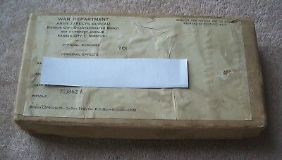 Wwii Us War Department Personal Effects Mailing Box Named