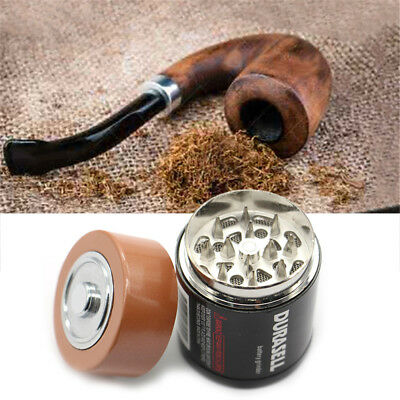 Metal Hand GRINDER zinc alloy Rainbow Tobacco Herb Rainbow 44mm Magnetic Lid Pot