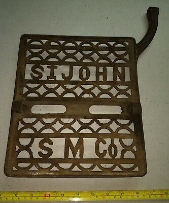 Vintage Late 1800s St. John Sewing Machine Company Heavy Cast Iron Pedal Rare
