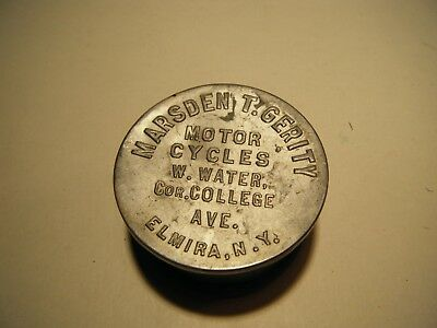 Antique 1800's Marsden T. Gerity Motorcycles Collapsible Drinking cup Elmira NY