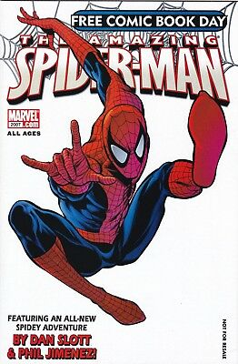 AMAZING SPIDER-MAN FCBD 2007 VF/NMINT 1ST Jackpot App Free Comic Book Day SONY
