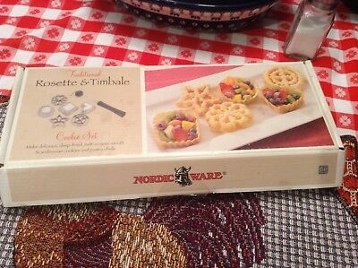 Nordic ware rosette and timbale cookie set
