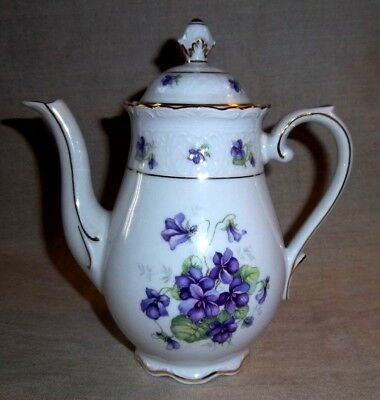 "Gorgeous Vintage Schumann Arzberg Germany 7 "" Tea / Coffee Pot - Pansies Pansy"